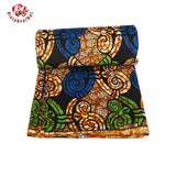 Quality Ankara 100%  Polyester Wax Prints Fabric Super Hollandais Wax High Quality 6 yards African Fabric for Party Dress 009