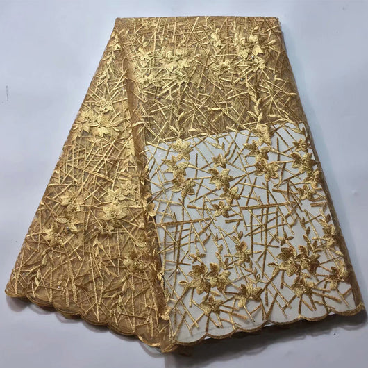 High quality 5 YARDS,Gold lace fabric, African stones tulle lace, fabric white/royal blue/pink/green lace fabrics