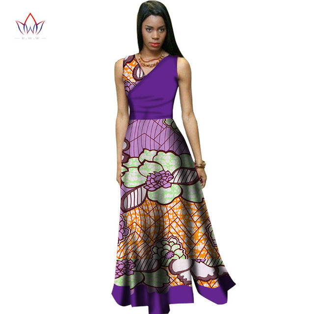 bc15e5a11a7 ... summer traditional african clothing women africain Vintage Maxi Dress v-neck  africa dress dashiki short