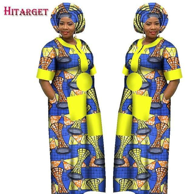 2017 Autumn Dress for Women Dashiki Custom Made African Printed Dresses Women Comfortable Loose women african clothing WY1226