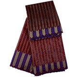 Latest African Bazin Riche Fabric 5yards+2yards High Quality Bazin Riche Getzner With Stones In Purple For Wedding