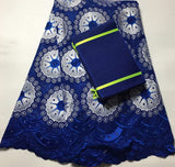 Latest African Lace 2018 Swiss Cotton voile Lace Fabric High Quality Swiss Lace Material With Aso Oke For Man And Women CAX022