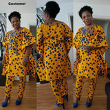 Beautiful Ankara dress styles,African Cotton clothing For Women Top and Pant, African Traditional dashiki dress