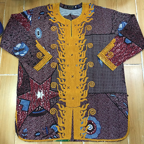 African super wax ,Bazin Riche Prints Dress For Man top with pants 2pcs/set with pocket