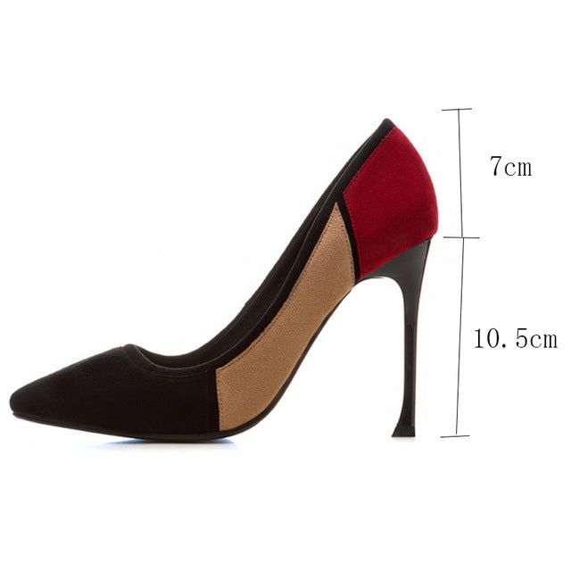 ... Pumps 2018 spring Office lady single shoes shallow mouth pointed toe  high-heeled shoes thin ... d13c0bab92aa