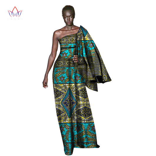 2018 Summer african bazin riche dresses for women traditional africa dress for women sexy & club new african dresses 6xl WY1367