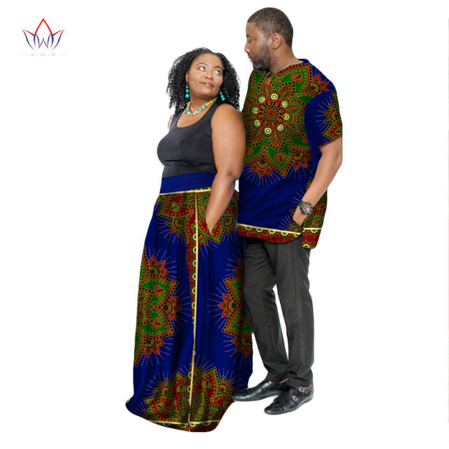 174b011d2 Hover to zoom · New Fashion African Couple Clothing Summer Dashiki Women  Skirt ...