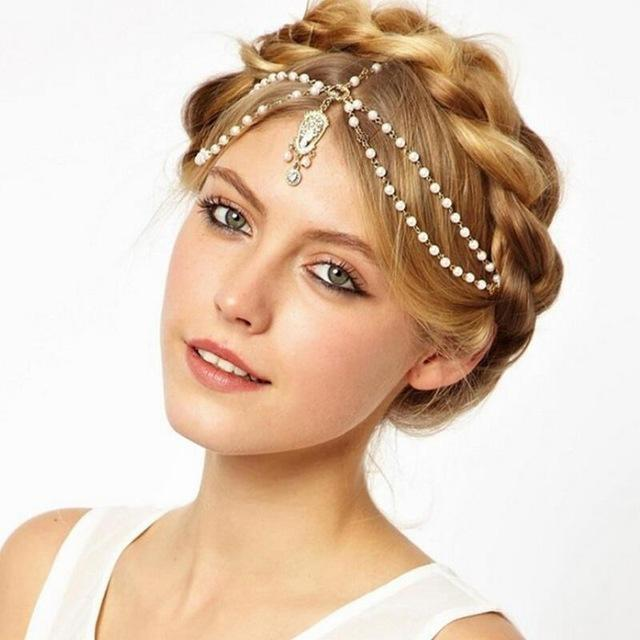 1PCS Women Lady Bohemian Crown Metal Tassel Head Chain Headband Jewelry Headpiece Hair Band Free Shipping
