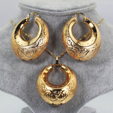 Luxury High Quality Jewelry Set,Gold Color Romantic Nigerian Wedding Jewelry Sets, African Costume Jewelry Sets For Party Wedding Gift,Ball Statement Necklace Earrings Pendant Round jewelry sets