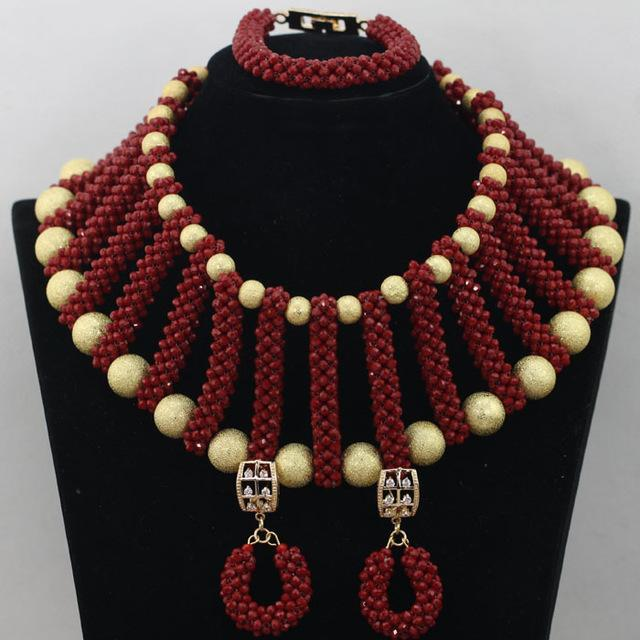 2016 Unique Design Trendy Peach Coral Beads Jewelry Sets African/Nigeria Party/Wedding Necklace Jewelry Set Free Shipping CJ752
