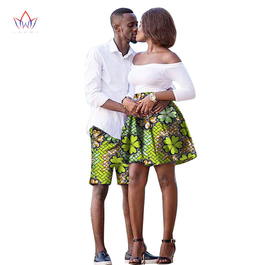 The New listing Lovers 2018 Women skirt Men shorts African Clothing Matching Dashiki Couples Clothes summer 6xl cotton WYQ41