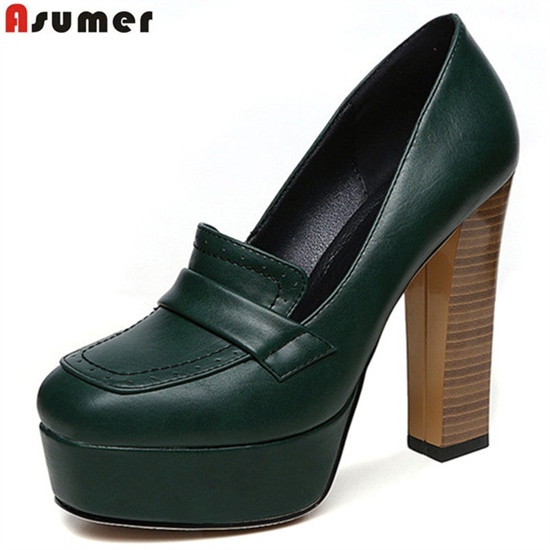 be61d1e0e5b Asumer 2018 spring autumn new arrive women pumps fashion shallow super  heels lady prom shoes elegant platform solid color