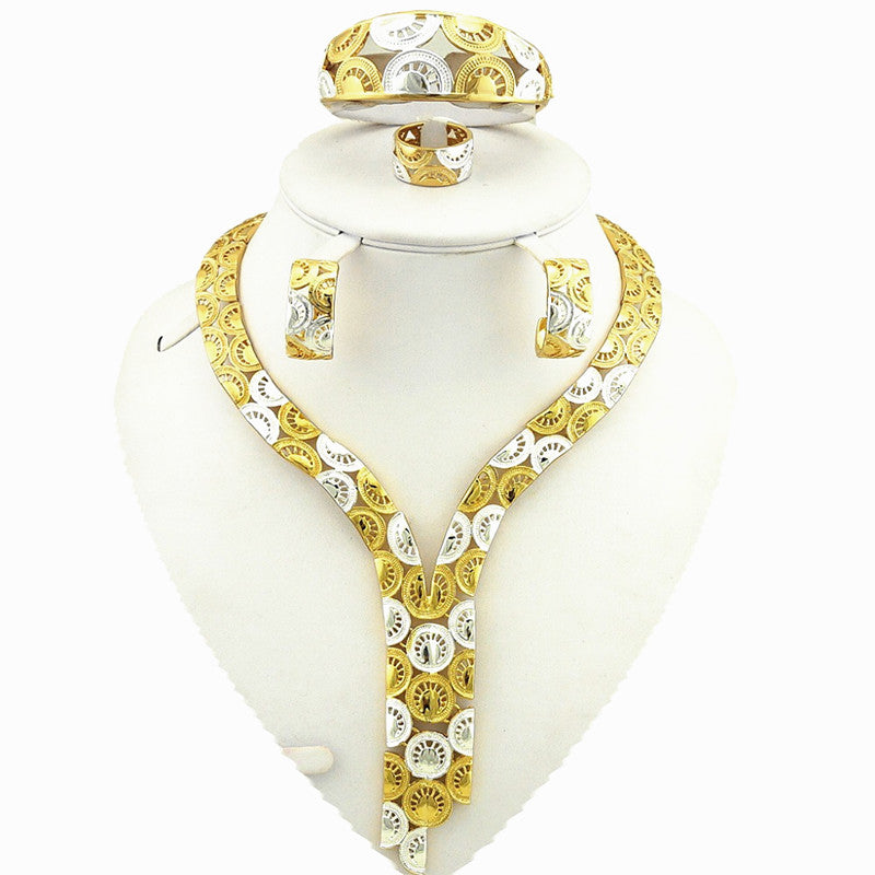 24k gold jewelry sets bridal jewelry set african big jewelry sets