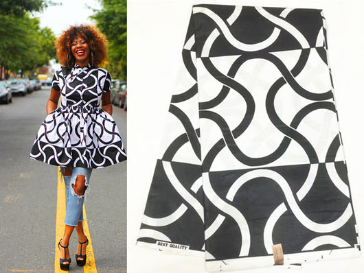 High Quality ankara fabric african print fabric blank and white super java wax african fabric ankara african wax print fabric for dresses-0wame13