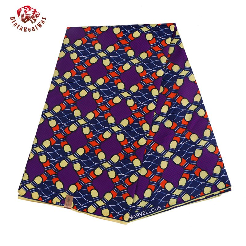 Ankara African Print Wax Prints Fabric Super Hollandais Wax High Quality 6 yards African Fabric for Party Dress-OWMF P6020