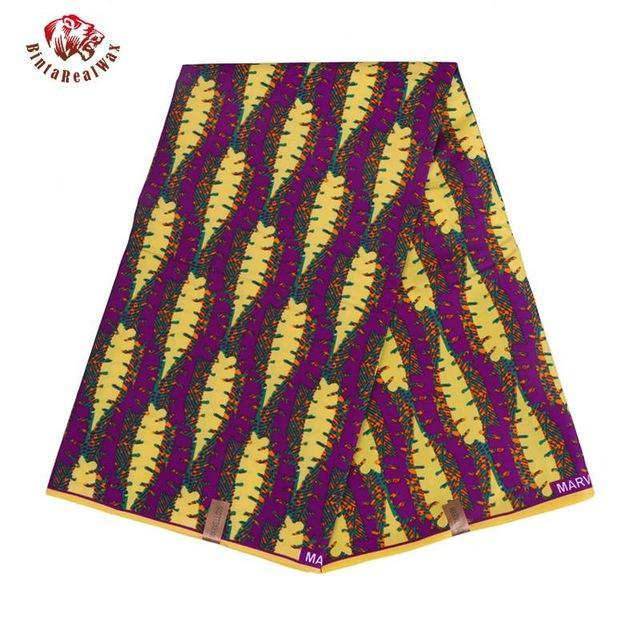 100%  Polyester Wax Prints Fabric 2018 Ankara Super Hollandais Wax High Quality 6 yards  African Fabric for Party Dress-OWMF P6020
