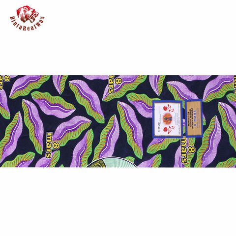African print  Wax Fabric,Ankara Super Hollandais Wax High Quality 6 yards  African Fabric for Party Dress-OWMF P6020