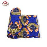 Ankara African Polyester Wax Prints Fabric Bule Super Hollandais Wax High Quality 6 yards African Fabric for Party Dress 009