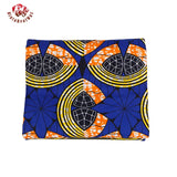 High Quality Ankara African Polyester Wax Prints Fabric Super Hollandais Wax High Quality 6 yards African Fabric for Party Dress 009
