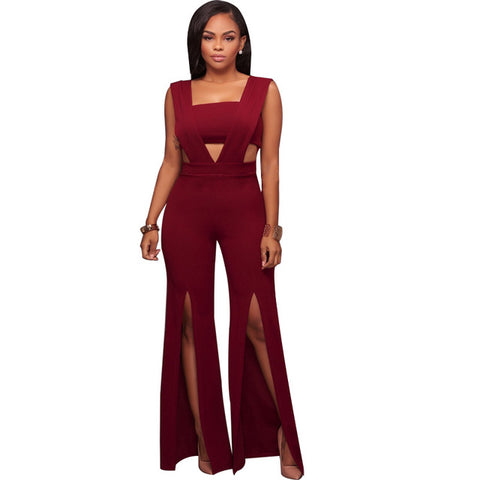 6bc574c2fdb ... Image of Women's Overall Plus Size Body Suit sexy wide leg pants Female  Winter Jumpsuit Bodies ...