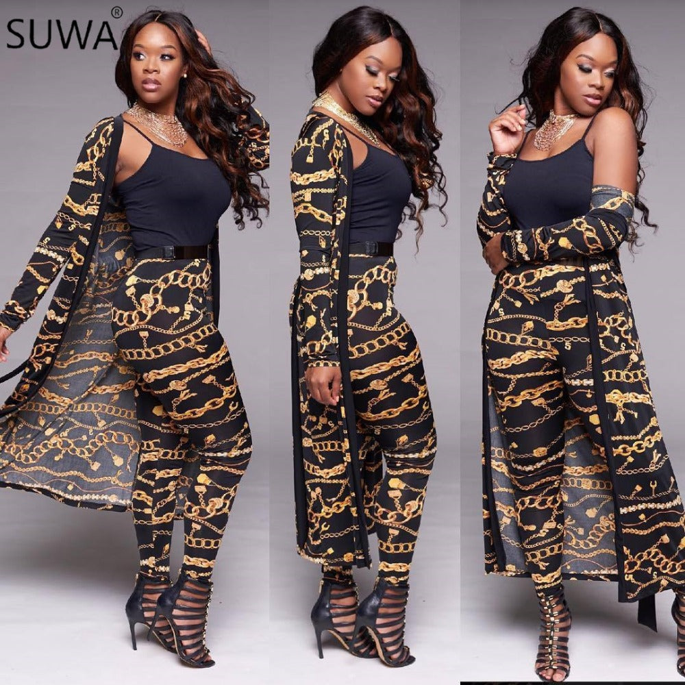9a5869d92e Jumpsuits Women Autumn Long Sleeve Women Overalls Sexy Bow Golden Chain Two  Piece Outfits Romper Jumpsuit WY6344