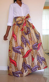 Fashion African Women Skirt Summer A-Line Skirts Digital printing High Waist Vintage Skirts-0wm12