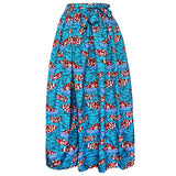 African Women Skirt Skirts Digital printing Elegant vestidos High Waist Skirts-0wm12