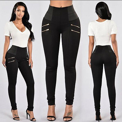 NEW Arrivals Fashion Women Denim Skinny Ripped Pants High Waist Stretch Jeans Slim Pencil Trousers -0wm34