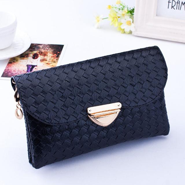 2016 New Fashion women bag Weave Pattern Crossbody Bag Ladies Cute Shoulder Bag luxury handbags Lady bags designer Famous Brand