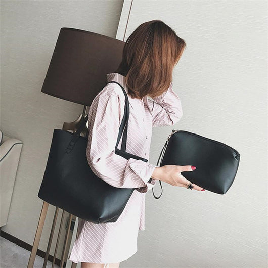 2pcs Bag Women Fashion Handbag Shoulder Handbags/ Women Casual Totes bag-0WMBG08