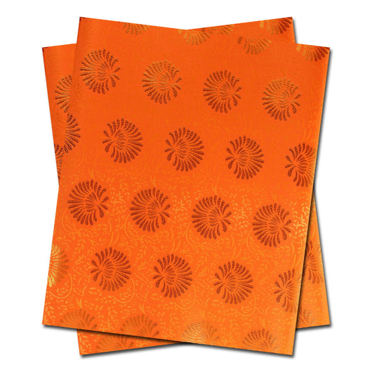 African headtie,Head Gear, Sego Gele&Ipele,Head Tie & Wrapper, 2pcs/set ORANGE-0W455