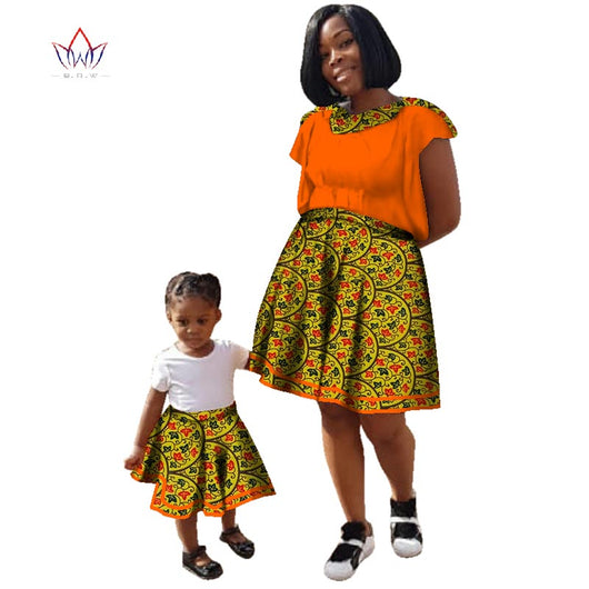 Family Matching Clothes, ankara Mother and Baby cotton fabric traditional african dashiki clothing 7xl -0W454