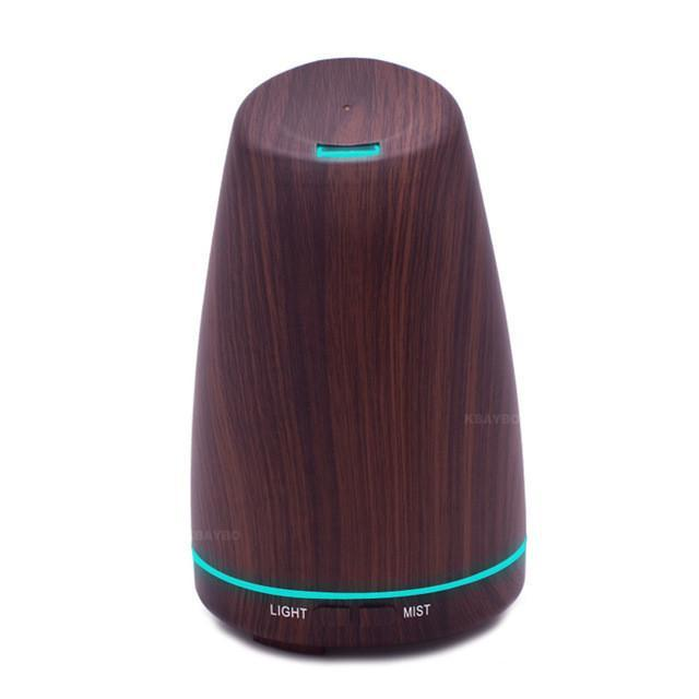 120 Ultrasonic Aromatherapy Diffuser Wood Grain Ultrasonic Humidifier for Office Home Bedroom Living Room