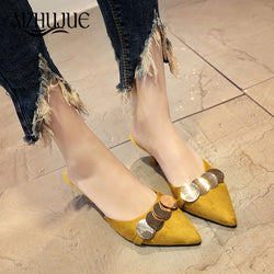 2018 Women Pumps Ankle Strap Thick Heel Women Shoes Square Toe Mid Heels Dress Work Pumps Comfortable Ladies Shoes 6 cm