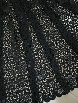 5 yards-Embroidery African Lace Fabric Fashion Laser Cutting Jacquard Fabric For Party New Origin Swiss Guipure Lace-0WM1805