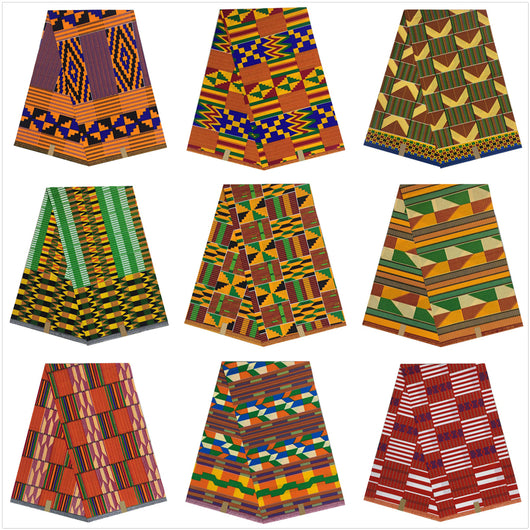 best quality nigeria kente style african wax fabric, super wax hollandais prints fabric, african dutch wax hollandais 6 yards-0WQY78