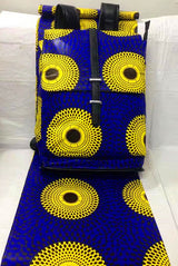 6yards  african wax print in orange&yellow with african backpack for matching african -0WQY78