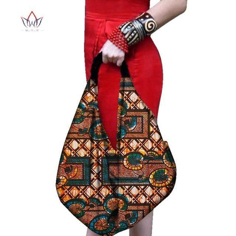 2017 African new fashion bucket bags for women handmade Canvas Handbag New Fashion Reusable Shopping Bags Women big bag WYA080