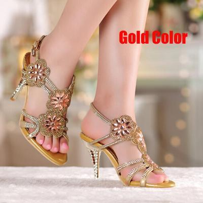2016 Purple Crystal Stiletto Heel Sandals Genuine Leather Lady High Heel Bridal Wedding Shoes Summer Sexy Rhienstone Dress Shoes