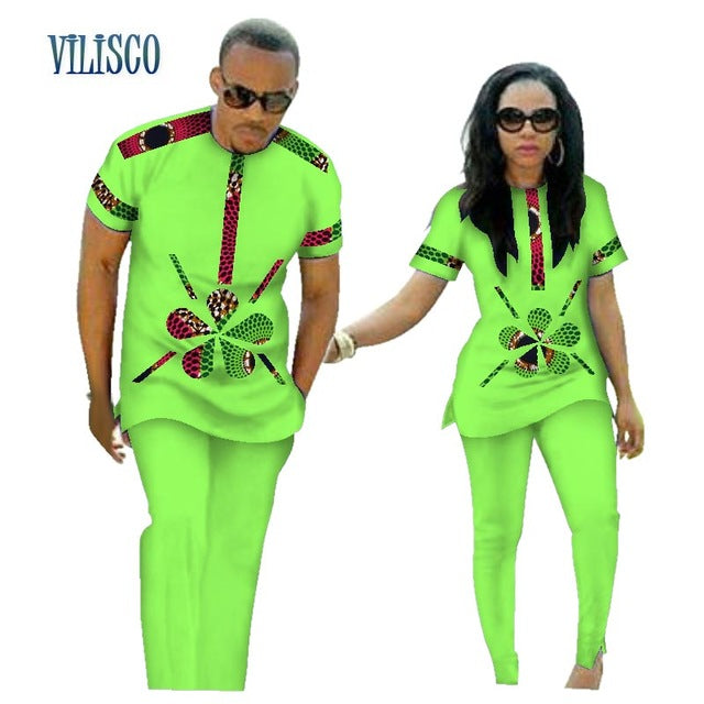 f44c5f07bc Hover to zoom · Summer African Print Top and Pants Sets for Couple Clothing  ...