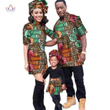 2018 New Fashion casual Matching Clothes Brand Father Mother and Baby Clothing Sets couples matching clothing 5 pieces BRWY1110