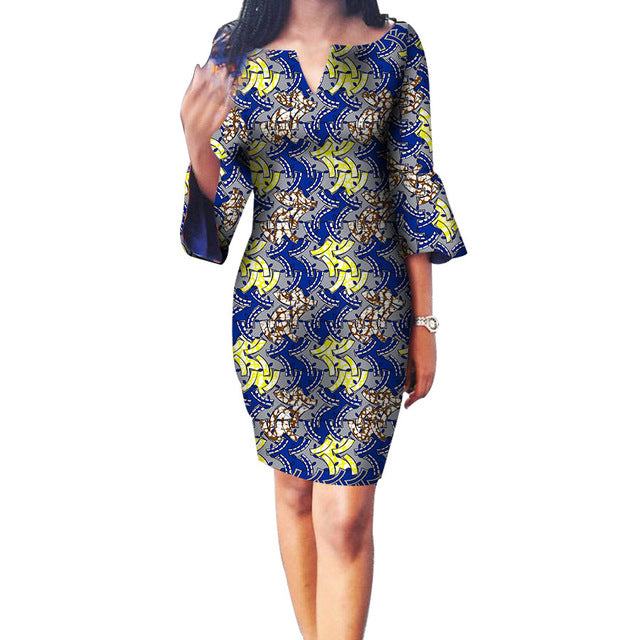 ... New Design Women African Print Dress African Festive Printed Dresses  Ladies Party Costume Custom Made Dashiki 047e6a249