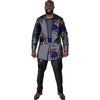 Image of Tailor made africa men print tops+trousers patchwork african clothes for men long sleeve tshirt and pant set