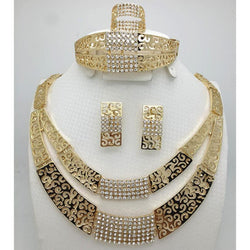 2016 Fashion Pearl  Dubai Gold -color  set African Beads Costume Acessories Bridal wedding Jewelry Sets