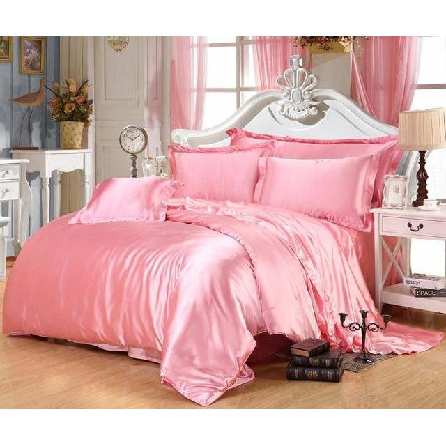 1 piece Luxury Satin Silk Bedding Single Comforter /Quilt Cover Only Duvet Cover Soft And Smooth Full King Queen Size