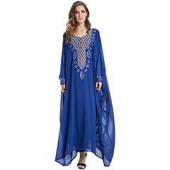 b49f4a95a93ad Babalet Elegant Modest Muslim Islamic Clothing Full Length Rhinestones  Diamond Long Maxi Abaya Kaftan Evening Dress