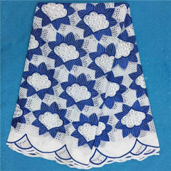 2017New Arrival African Cotton Lace Fabrics For Wedding Dress High Quality Swiss Voile Lace Embroidered Guipure Fabric