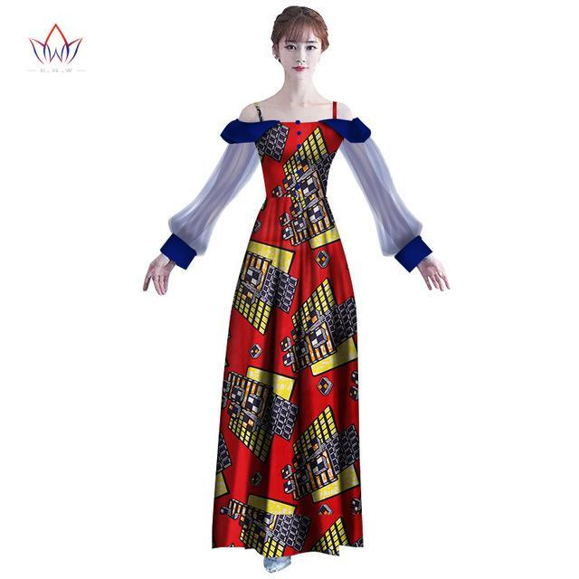 2017 New  africa Dresses for women dashiki Elegant Traditional African Clothing Vestidos Puls size Dresses for Girl  WY2398