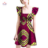 2018 summer Dresses Plus Size african dresses for women Square Collar women african clothing knee length everyday dress WY2046