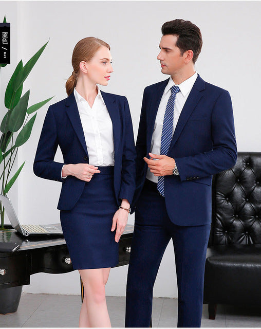 Men Women Ol Clothes Business Suit Long Sleeve Self Cultivation Work